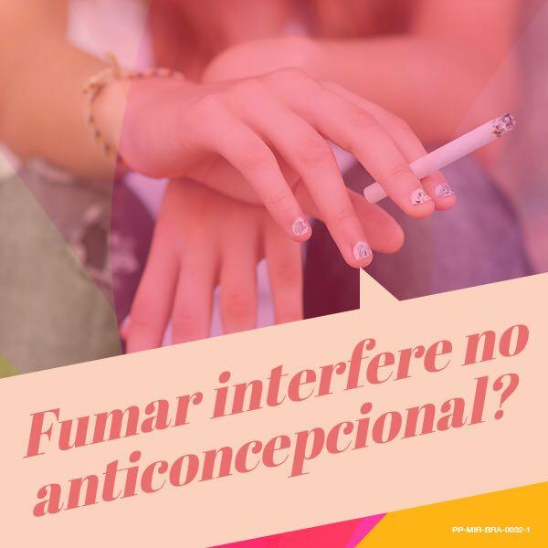 Fumar interfere no anticoncepcional