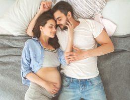 grávida de menino e de menina